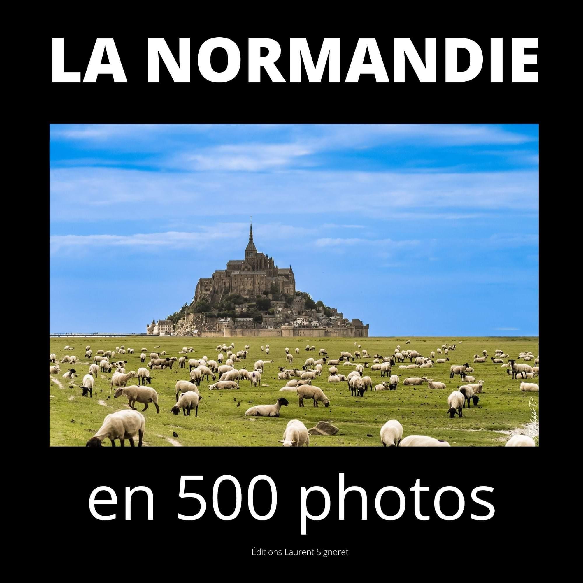 Couverture du livre, la Normandie en 500 photos